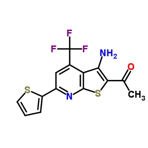 285980-95-2 1-[3-amino-6-(thiophen-2-yl)-4-(trifluoromethyl)thieno[2,3-b]pyridin-2-yl]ethanone