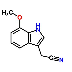 Moleculaire Structuur 2436 18 2 7 Methoxyindole 3 Acetonitrile