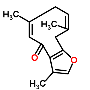 24268-41-5 (5Z)-3,6,10-trimethyl-8,11-dihydrocyclodeca[b]furan-4(7H)-one