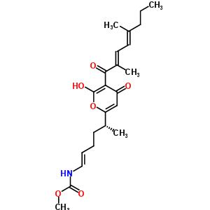 88192-98-7 methyl [(1E,5R)-5-{5-[(2E,4E)-2,5-dimethylocta-2,4-dienoyl]-6-hydroxy-4-oxo-4H-pyran-2-yl}hex-1-en-1-yl]carbamate