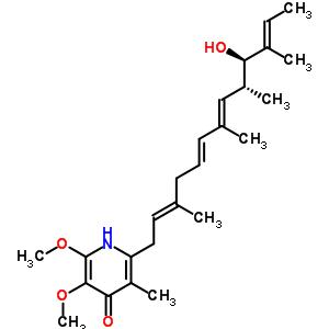 19855-42-6;24467-35-4;2738-64-9;5085-85-8 2-[(2E,5E,7E,9R,10R,11E)-10-hydroxy-3,7,9,11-tetramethyltrideca-2,5,7,11-tetraen-1-yl]-5,6-dimethoxy-3-methylpyridin-4(1H)-one