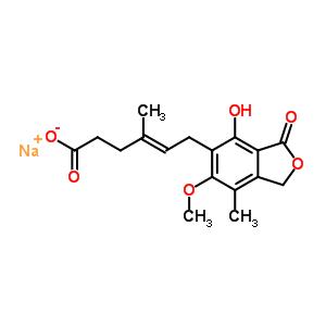 23288-62-2;37415-62-6 sodium (4E)-6-(4-hydroxy-6-methoxy-7-methyl-3-oxo-1,3-dihydro-2-benzofuran-5-yl)-4-methylhex-4-enoate