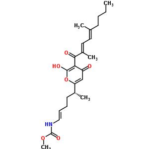 88192-99-8 methyl [(1E,5R)-5-{5-[(2E,4E)-2,5-dimethylnona-2,4-dienoyl]-6-hydroxy-4-oxo-4H-pyran-2-yl}hex-1-en-1-yl]carbamate