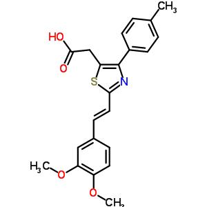 116759-18-3 {2-[(E)-2-(3,4-dimethoxyphenyl)ethenyl]-4-(4-methylphenyl)-1,3-thiazol-5-yl}acetic acid