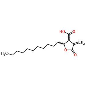 570-13-8 4-methylidene-5-oxo-2-undecyltetrahydrofuran-3-carboxylic acid