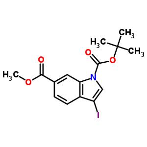 850374-94-6 1-tert-butyl 6-methyl 3-iodo-1H-indole-1,6-dicarboxylate