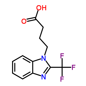 876728-42-6 4-[2-(trifluoromethyl)-1H-benzimidazol-1-yl]butanoic acid