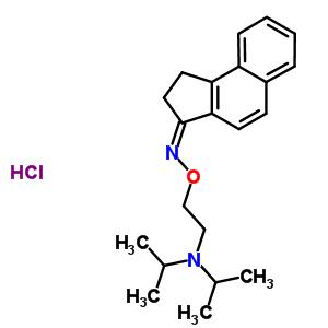 157596-30-0 (3Z)-1,2-dihydro-3H-cyclopenta[a]naphthalen-3-one O-{2-[bis(1-methylethyl)amino]ethyl}oxime hydrochloride