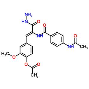 28272-01-7 4-[(1Z)-2-({[4-(acetylamino)phenyl]carbonyl}amino)-3-hydrazino-3-oxoprop-1-en-1-yl]-2-methoxyphenyl acetate