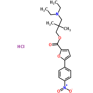 60766-34-9 3-(diethylamino)-2,2-dimethylpropyl 5-(4-nitrophenyl)furan-2-carboxylate hydrochloride