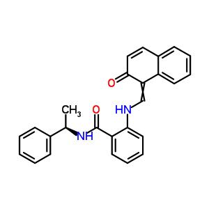 410536-97-9 2-{[(2-oxonaphthalen-1(2H)-ylidene)methyl]amino}-N-[(1S)-1-phenylethyl]benzamide