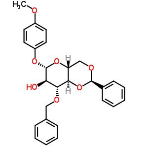 4-甲氧苯基-3-O-苄基-4,6-O-苯亚甲基-β-D-吡喃葡萄糖苷 303127-81-3