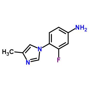 252340-70-8 3-Fluoro-4-(4-methyl-1H-imidazol-1-yl)aniline