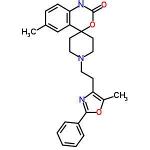 6-甲基-1,1'-[2-(5-甲基-2-苯基-4-恶唑基)乙基]-螺[4H-3-1,1-苯并恶嗪-4,4'-哌啶]-2(1H)-酮 300816-15-3