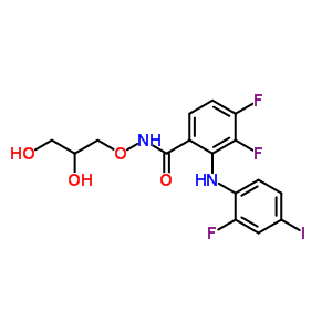 391210-10-9;870474-62-7 N-{[(2R)-2,3-dihydroxypropyl]oxy}-3,4-difluoro-2-[(2-fluoro-4-iodophenyl)amino]benzamide