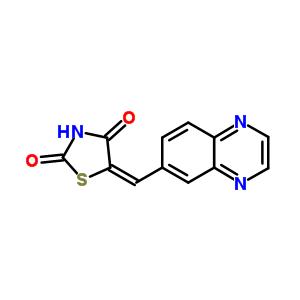 648450-29-7 (5E)-5-(quinoxalin-6-ylmethylidene)-1,3-thiazolidine-2,4-dione