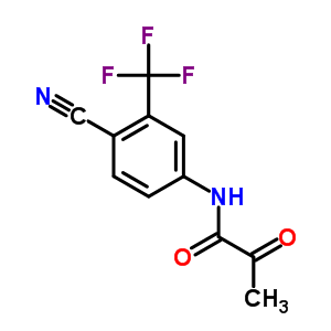 87310-69-8 N-[4-cyano-3-(trifluoromethyl)phenyl]-2-oxopropanamide