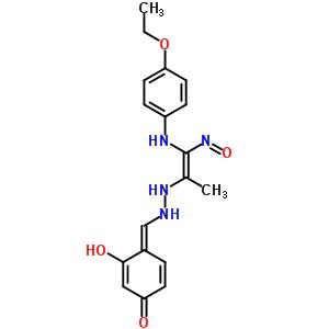 126389-85-3 (4E)-4-[(2-{(E)-2-[(4-ethoxyphenyl)amino]-1-methyl-2-nitrosoethenyl}hydrazino)methylidene]-3-hydroxycyclohexa-2,5-dien-1-one
