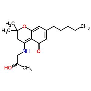129783-66-0 4-[(2-hydroxypropyl)amino]-2,2-dimethyl-7-pentyl-2,3-dihydro-5H-chromen-5-one