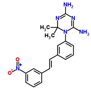19223-14-4 6,6-dimethyl-1-{3-[(E)-2-(3-nitrophenyl)ethenyl]phenyl}-1,6-dihydro-1,3,5-triazine-2,4-diamine