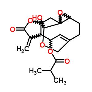 21871-14-7 (1aR,5aR,8aR,9S,10aR,11R)-11-hydroxy-8-methylidene-7-oxo-2,3,5a,7,8,8a,9,10-octahydro-1aH-4,10a-(methanooxymethano)oxireno[5,6]cyclodeca[1,2-b]furan-9-yl 2-methylpropanoate