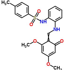 28857-06-9 N-(2-{[(2,4-dimethoxy-6-oxocyclohexa-2,4-dien-1-ylidene)methyl]amino}phenyl)-4-methylbenzenesulfonamide