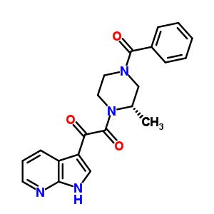 357262-66-9 2-[(2S)-2-methyl-4-(phenylcarbonyl)piperazin-1-yl]-2-oxo-1-(1H-pyrrolo[2,3-b]pyridin-3-yl)ethanone