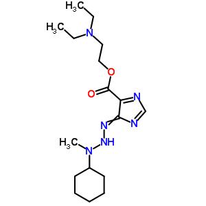 36142-60-6 2-(diethylamino)ethyl 4-(3-cyclohexyl-3-methyltriazanylidene)-4H-imidazole-5-carboxylate