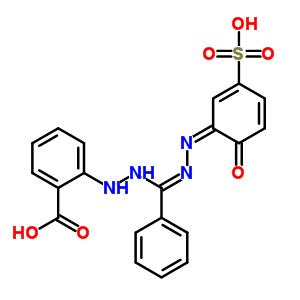59600-76-9 2-{2-[(Z)-[(2Z)-(6-oxo-3-sulfocyclohexa-2,4-dien-1-ylidene)hydrazono](phenyl)methyl]hydrazino}benzoic acid