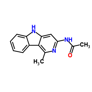 74011-07-7 N-(1-methyl-5H-pyrido[4,3-b]indol-3-yl)acetamide