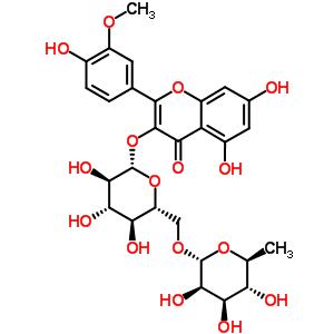 31228-20-3;56384-79-3;604-80-8 5,7-dihydroxy-2-(4-hydroxy-3-methoxyphenyl)-4-oxo-4H-chromen-3-yl 6-O-(6-deoxy-alpha-L-mannopyranosyl)-beta-D-glucopyranoside