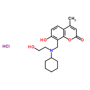 57028-61-2 8-{[cyclohexyl(2-hydroxyethyl)amino]methyl}-7-hydroxy-4-methyl-2H-chromen-2-one hydrochloride