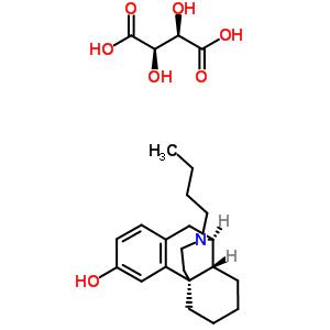 63732-50-3 17-butylmorphinan-3-ol 2,3-dihydroxybutanedioate (salt)