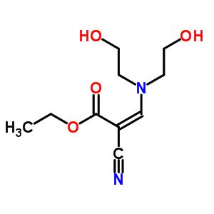 91005-83-3 ethyl (2Z)-3-[bis(2-hydroxyethyl)amino]-2-cyanoprop-2-enoate