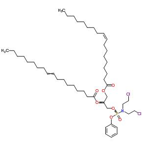 36468-29-8 3-({[bis(2-chloroethyl)amino](phenoxy)phosphoryl}oxy)propane-1,2-diyl (9Z)bis-octadec-9-enoate