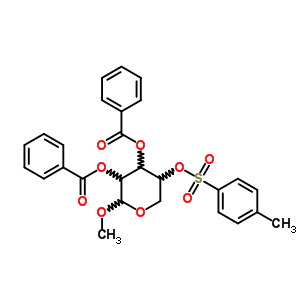 13143-92-5 methyl 2,3-di-O-benzoyl-4-O-[(4-methylphenyl)sulfonyl]pentopyranoside