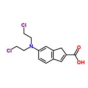 92195-06-7 6-[bis(2-chloroethyl)amino]-1H-indene-2-carboxylic acid