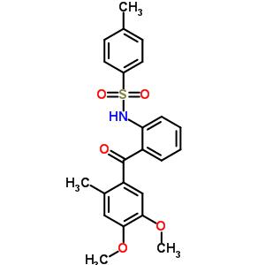 23145-69-9 N-[2-(4,5-dimethoxy-2-methylbenzoyl)phenyl]-4-methylbenzenesulfonamide