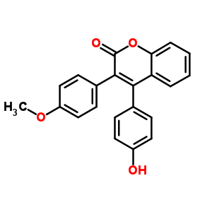 3449-31-8 4-(4-hydroxyphenyl)-3-(4-methoxyphenyl)-2H-chromen-2-one