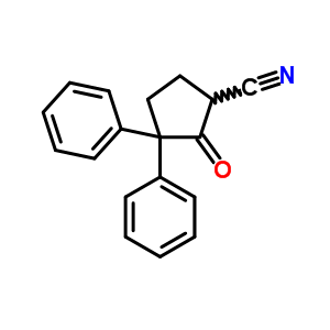 2674-76-2 2-oxo-3,3-diphenylcyclopentanecarbonitrile
