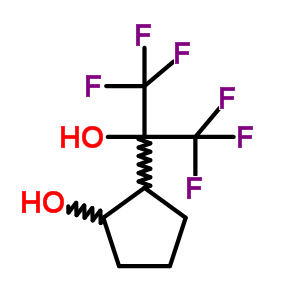 34844-38-7 2-(1,1,1,3,3,3-hexafluoro-2-hydroxypropan-2-yl)cyclopentanol