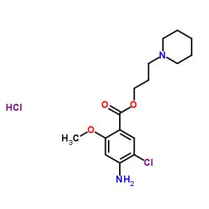 3-(Piperidin-1-yl)propyl 4-amino-5-chloro-2-methoxybenzoate hydrochloride 149719-06-2