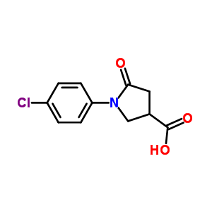 39629-87-3 1-(4-chlorophenyl)-5-oxopyrrolidine-3-carboxylic acid