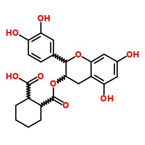 104732-03-8 2-({[2-(3,4-dihydroxyphenyl)-5,7-dihydroxy-3,4-dihydro-2H-chromen-3-yl]oxy}carbonyl)cyclohexanecarboxylic acid