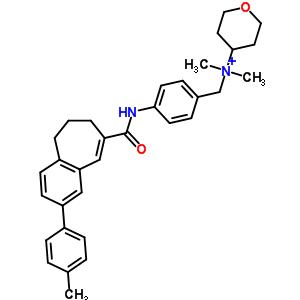 263765-56-6 N,N-dimethyl-N-[4-({[2-(4-methylphenyl)-6,7-dihydro-5H-benzo[7]annulen-8-yl]carbonyl}amino)benzyl]tetrahydro-2H-pyran-4-aminium