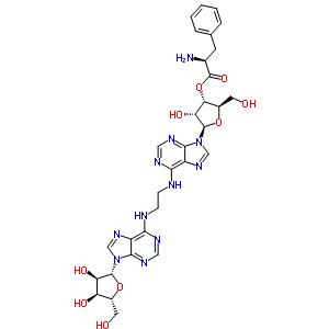 64542-52-5 (2R,3S,4R,5R)-5-(6-{[2-({9-[(2R,3R,4S,5R)-3,4-dihydroxy-5-(hydroxymethyl)tetrahydrofuran-2-yl]-9H-purin-6-yl}amino)ethyl]amino}-9H-purin-9-yl)-4-hydroxy-2-(hydroxymethyl)tetrahydrofuran-3-yl (2S)-2-amino-3-phenylpropanoate (non-preferred name)
