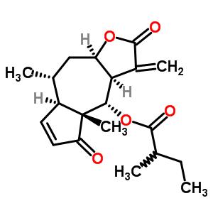 94729-11-0 (3aR,4S,4aR,7aR,8R,9aR)-4a,8-dimethyl-3-methylidene-2,5-dioxo-2,3,3a,4,4a,5,7a,8,9,9a-decahydroazuleno[6,5-b]furan-4-yl 2-methylbutanoate