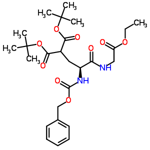 56926-93-3 di-tert-butyl {(2S)-2-{[(benzyloxy)carbonyl]amino}-3-[(2-ethoxy-2-oxoethyl)amino]-3-oxopropyl}propanedioate (non-preferred name)