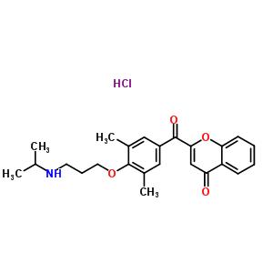 67652-40-8 2-{3,5-dimethyl-4-[3-(propan-2-ylamino)propoxy]benzoyl}-4H-chromen-4-one hydrochloride (1:1)