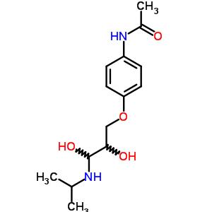 19622-28-7 N-{4-[2,3-dihydroxy-3-(propan-2-ylamino)propoxy]phenyl}acetamide